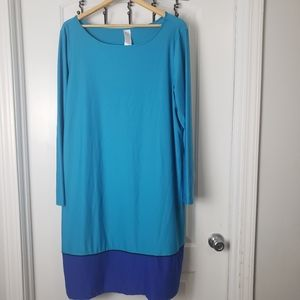 3/$25 Plus size two tone blue dress sz 1x